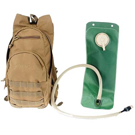 Hydration Pack With 3 Liter Water Bladder and Mouthpiece Tan