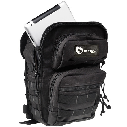 "Image for Drago Sentry Backpack Nylon Black 13""x10""x7"""