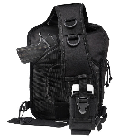 "Drago Sentry Backpack Nylon Black 13""x10""x7"""