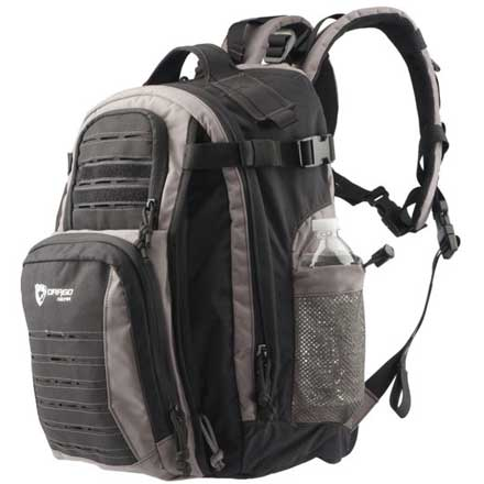 "Defender Backpack Shadow Black and Steel 17.5"" x 4.5"" x 11.25"""