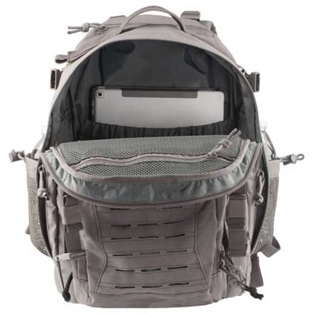 "Defender Backpack Steel 17.5"" x 4.5"" x 11.25"""