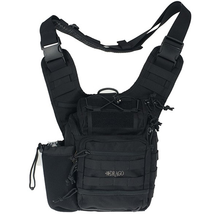 "Ambidextrious Shoulder Pack Black 11.5""x10""x8"""