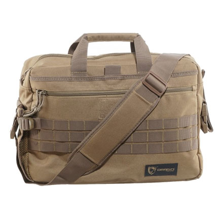 "Tactical Laptop Briefcase  Tan   18.5""x5.5""x13"""
