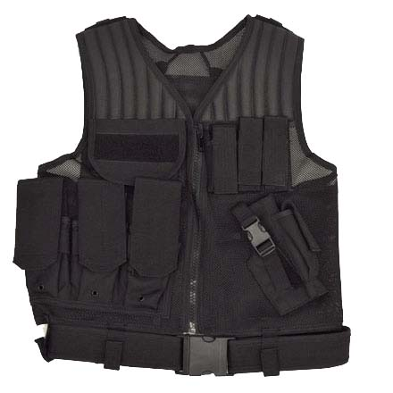 Image for Fast Draw Tactical Vest Black M - XL Adjustable