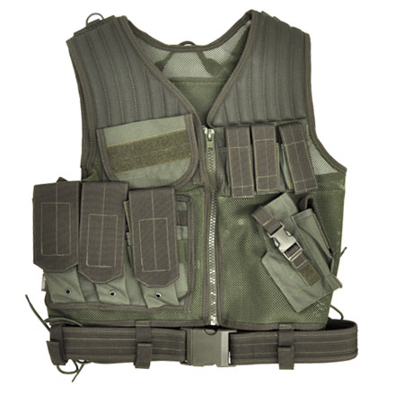 Image for Fast Draw Tactical Vest Green M - XL Adjustable