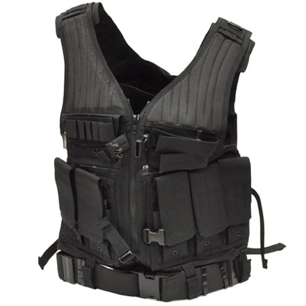 Image for First Strike Tactical Vest Black M - XL Adjustable With Tactical Belt