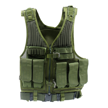 Image for First Strike Tactical Vest Green M - XL Adjustable With Tactical Belt