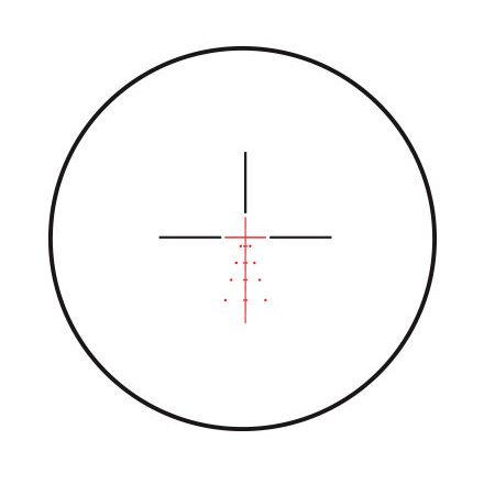 Fullfield E1 3-9x40mm Illuminated Ballistic Plex E1 Reticle Matte Finish
