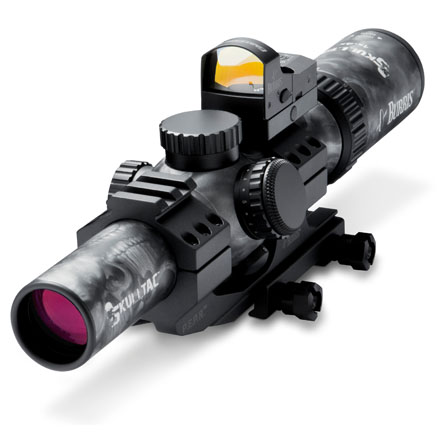 Image for Skull Tac 30mm 1x-4x-24mm Ill Ballistic CQ 5.56  Reticle Skull Finish Combo
