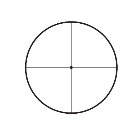 Competition 45x45mm 1/8 Min Target Dot Reticle 30mm Matte Finish