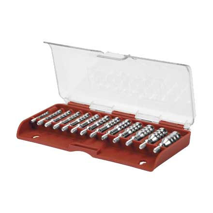 17-45 Caliber 12 Piece Nickel Plated Ultra Cleaning Jag Set 8/32
