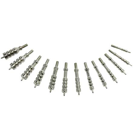"17-45 Caliber 13 Piece Nickel Plated Ultra Cleaning Jag Set 8/32""  17 has 5/40"" Thread"