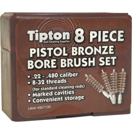 8 Piece Pistol Phosphor Bronze Brush Set