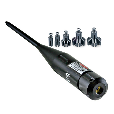 Laser Boresighter With Adjustable Arbors 22 To 50 Caliber