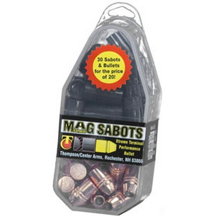 .50 Caliber Mag Express Sabots With .45 Caliber 300 Grain XTP Bullets (30 Pack)