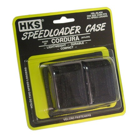 Black Cordura Double Side By Side Speedloader Case (One Size Fits All)