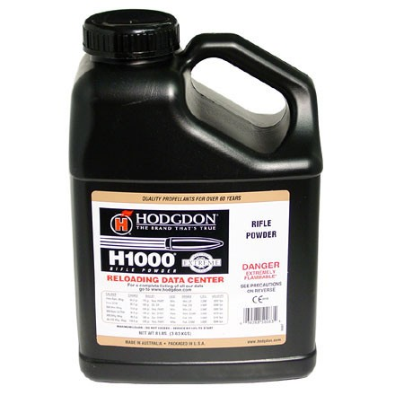 Image for Hodgdon H1000 Smokeless Powder 8 Lbs