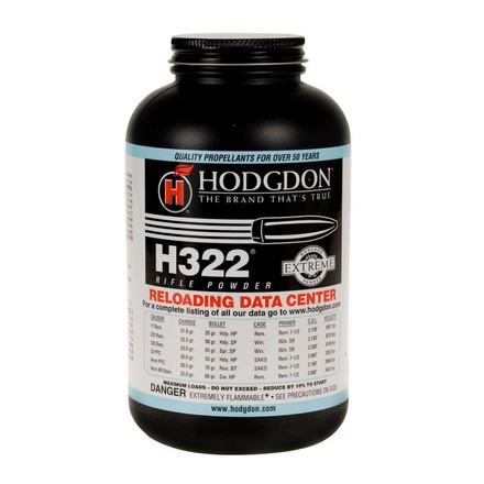 Image for Hodgdon H322 Smokeless Powder 1 Lb