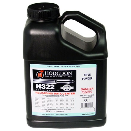 Image for Hodgdon H322 Smokeless Powder 8 Lbs