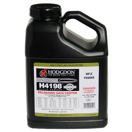 Hodgdon H4198 Smokeless Powder 8 Lbs