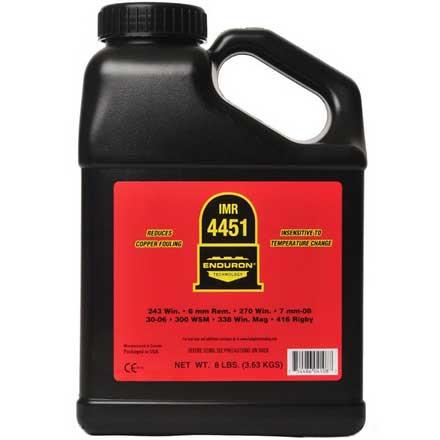 IMR 4451 with ENDURON Technology Smokeless Powder 8 Lbs