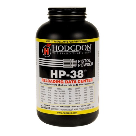 Hodgdon HP38 Smokeless Powder 1 Lb