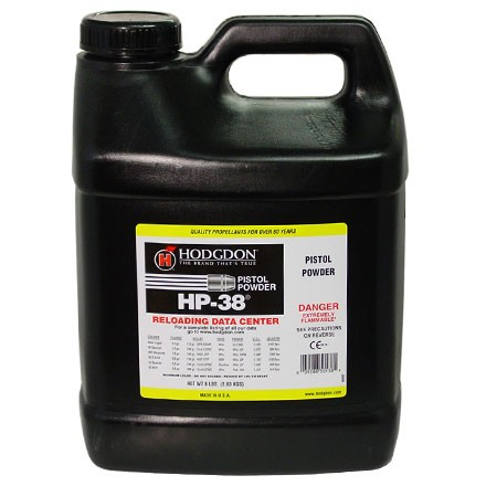 ' alt='Hodgdon HP38 Smokeless Powder 8 Lbs' />
