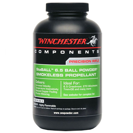 Winchester StaBALL 6.5 Smokeless Powder 1 Lb