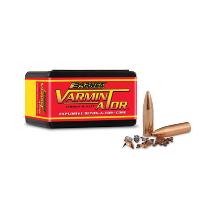 Image for Varmin-A-Tor 22 Caliber .224 Diameter 40 Grain Hollow Point Flat Base 100 Count