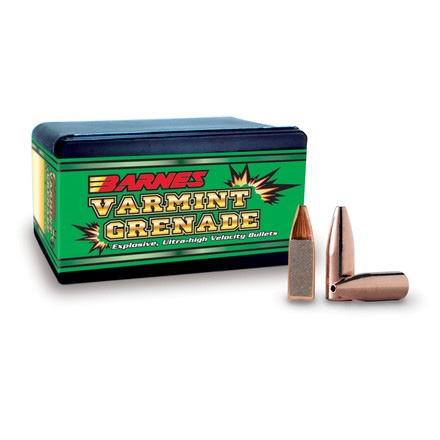 22 Caliber .224 Diameter 30 Grain Varmint Grenade Flat Base 250 Count