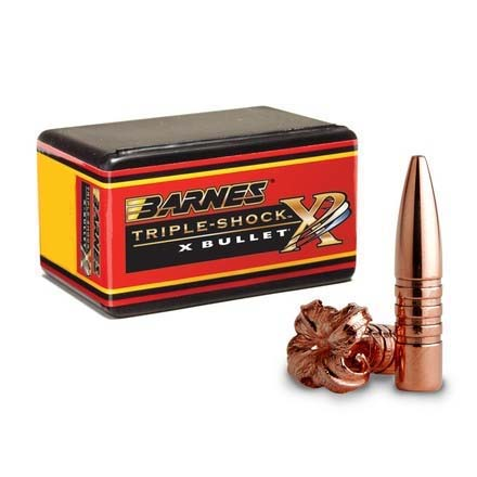 35 Caliber .358 Diameter 200 Grain Triple Shock X-Bullet Flat Base 50 Count