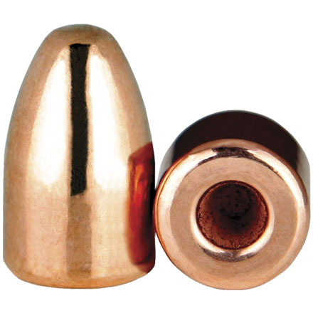 9mm .356 Diameter 124 Grain Hollow Base Round Nose Thick Plate 1000 Count
