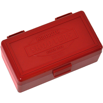 Hinged Top 50 Round Ammo Box 38/357 Red