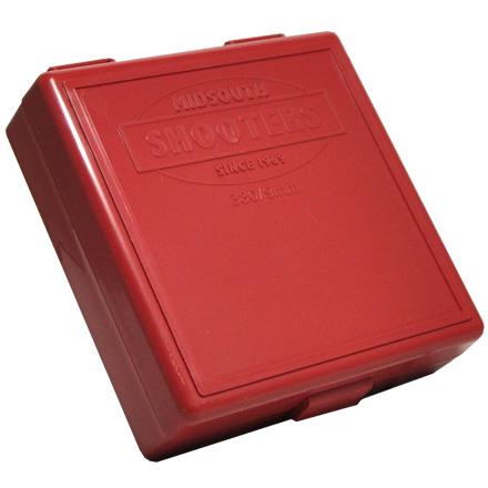 Hinged Top 100 Round Ammo Box 380/9mm Red