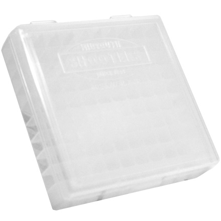Hinged Top 100 Round Ammo Box 380/9mm Clear