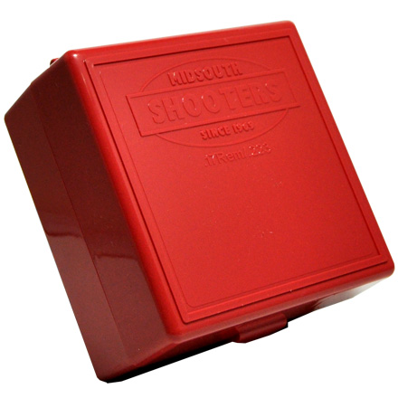 Hinged Top 100 Round Ammo Box 222/223 Red
