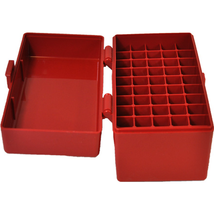 Hinged Top 50 Round Red Ammo Box 243/308 (6.5 Creedmoor)