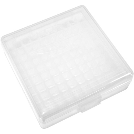 Hinged Top 100 Round Ammo Box 22 LR  Clear