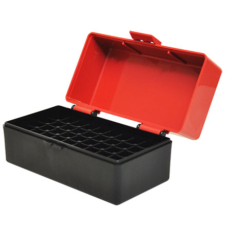 Flip Top 50 Round Ammo Box 222/223 Red with Black Base