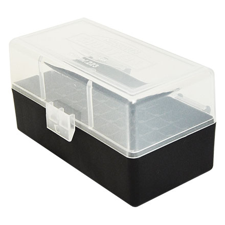 Flip Top 50 Round Ammo Box 222/223 Clear with Black Base