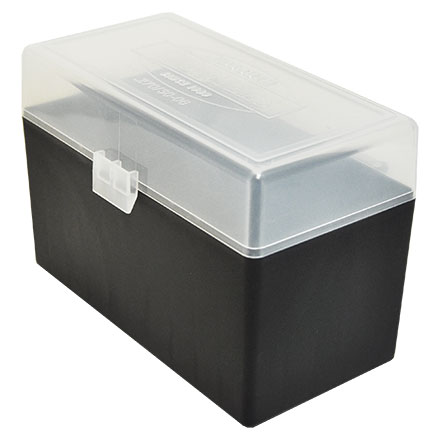 Hinged Top 50 Round Ammo Box 270/30-06 Clear with Black Base