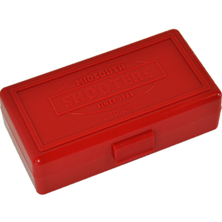 Hinged Top 50 Round Ammo Box 380/9mm Red