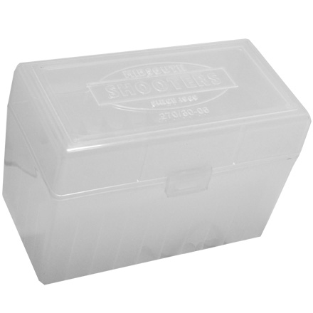 Hinged Top 50 Round Ammo Box 270/30-06 Clear