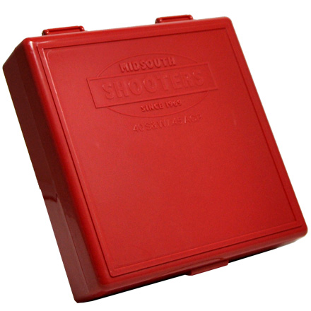 Hinged Top 100 Round Ammo Box 10mm/45 ACP Red