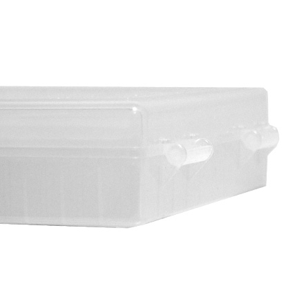 Hinged top 100 round ammo box 10mm 45 acp clear