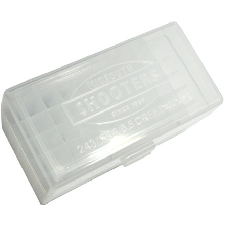 Hinged Top 50 Round Ammo Box 243/308 Clear