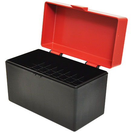 Hinged Top 50 Round Ammo Box 270/30-06 Red with Black Base