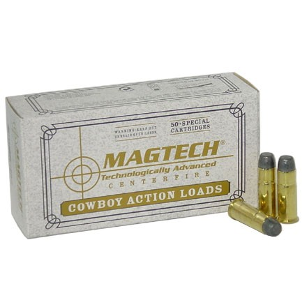 ' alt='357 Magnum 158 Grain Cowboy Action Lead Flat Nose 50 Rounds' />
