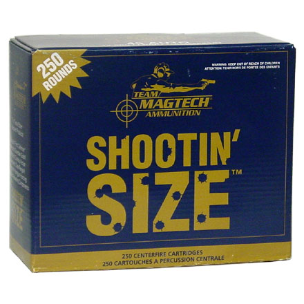 Image for Shootin Size 380 Auto 95 Grain Full Metal Jacket 250 Rounds