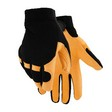 Deerskin Gloves With Black Neoprene Knuckle and Stretch Knit Back (Medium)